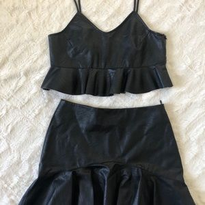 Zara small mini skirt set